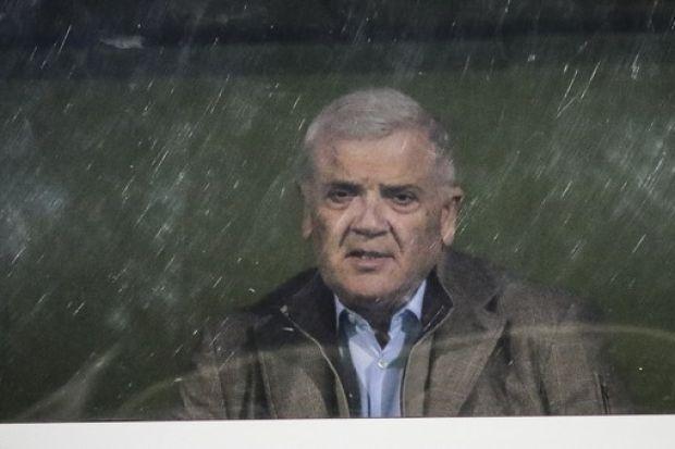 Ο Μελισσανίδης είδε το ματς πίσω από το τζάμι...