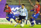 Στο ντεμπούτο του με την Εθνική Αργεντινής (στην ομάδα U20), σε φιλικό με την Παραγουάη (29/6/2004)