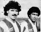 O Νίκος Αναστόπουλος και ο Θόδωρος Πάλλας, στην επίσημη παρουσίασή τους στο Καραϊσκάκη, φοράνε για πρώτη φορά τη φανέλα του Ολυμπιακού
