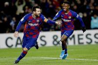 Ο Λιονέλ Μέσι της Μπαρτσελόνα πανηγυρίζει γκολ του κόντρα στη Γρανάδα για την Primera Division 2019-2020 στο 'Καμπ Νόου', Βαρκελόνη, Κυριακή 19 Ιανουαρίου 2020