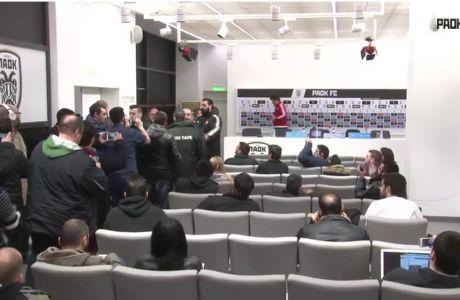 ΧΑΜΟΣ στη συνέντευξη Τύπου: επεισόδιο δημοσιογράφων-Καραπαπά και αποχώρηση Σίλβα!