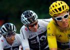Έγαν Μπερνάλ, Κρις Φρουμ και Γκέρεντ Τόμας στο περσινό Tour de France. Φέτος θα είναι παρόντες μόνο ο Κολομβιανός και ο Ουαλός. (AP Photo/Peter Dejong)
