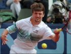 Third seed Goran Ivanisevic of Croatia returns a ball to Vince Spadea of USA during the second round of the dlrs 2 million Italian open tennis tournament in Rome Wednesday May 17, 1995. Ivanisevic defeated Spadea 6-4, 6-3. (AP Photo/Massimo Sambucetti)
