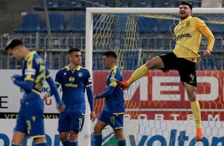 Ο Δημήτρης Μάνος με ένα γκολ και μια ασίστ οδήγησε τον Άρη στη νίκη με 2-0 επί του Αστέρα στο 'Θ. Κολοκοτρώνης', στη ρεβάνς της φάσης των '16' του Κυπέλλου Ελλάδας | 04/02/2021 (ΦΩΤΟΓΡΑΦΙΑ: EUROKINISSI)
