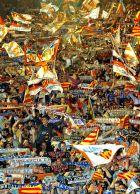 Η υποδοχή των πρωταθλητών Ισπανίας 2001/02 στους δρόμους της Βαλένθιας.