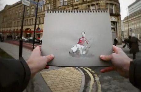 Η καριέρα του Ρονάλντο σε σκίτσα (VIDEO)