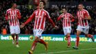 Stoke's Bojan Krkic during the English Premier League soccer match between Stoke City and Arsenal at the Britannia Stadium, in Stoke on Trent, England, Saturday, Dec. 6, 2014. (AP Photo/Rui Vieira)