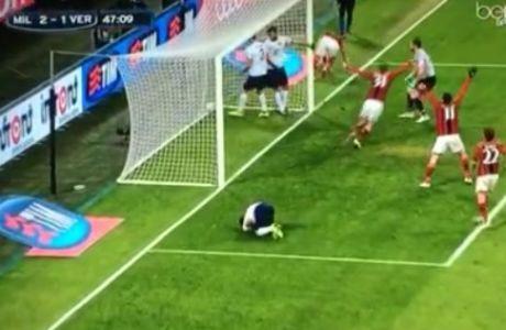 Αυτογκόλ ο Ταχτσίδης στο ματς με την Μίλαν (VIDEO)