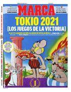 Το πρωτοσέλιδο της Marca για τον θάνατο του δημιουργού του Αστερίξ, Αλμπέρ Ουντερζό, και την αναβολή των Ολυμπιακών Αγώνων 2020