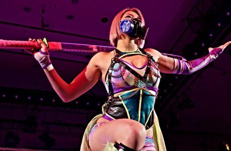 Η Χάνα Κιμούρα σε μια από τις εμφανίσεις της στο ρινγκ του ιαπωνικού wrestling