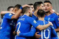 Οι Έλληνες διεθνείς πανηγυρίζουν το δεύτερο τέρμα της εθνικής στην αναμέτρηση με την Βοσνία στο ΟΑΚΑ (2-1), για την προκριματική φάση των ομίλων του Euro 2020 - 15/10/2019 (ΦΩΤΟΓΡΑΦΙΑ: ΔΗΜΟΠΟΥΛΟΣ ΘΑΝΑΣΗΣ / EUROKINISSI)