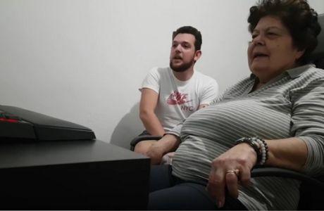 Η τρομερή γιαγιά που πανηγυρίζει για τον ΠΑΟΚ!