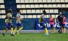 Ο Γκμπολί Αριγίμπι του Παναιτωλικού πανηγυρίζει γκολ που σημείωσε κόντρα στον Αστέρα για τη Super League Interwetten 2020-2021 στο Γήπεδο Παναιτωλικού   Σάββατο 3 Οκτωβρίου 2020