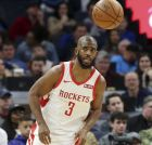 Houston Rockets' Chris Paul plays against the Minnesota Timberwolves in an NBA basketball game Wednesday, Feb. 13, 2019, in Minneapolis. (AP Photo/Jim Mone)