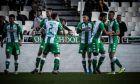 Οι παίκτες του Παναθηναϊκού πανηγυρίζουν γκολ κατά του Αστέρα Τρίπολης σε αναμέτρηση για τη Super League 1 2019-2020 στο Ολυμπιακό Στάδιο, Κυριακή 1 Δεκεμβρίου 2019