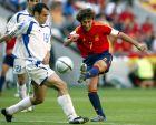 Καψής και Ραούλ στο 1-1 της Ελλάδας με την Ισπανία (16/6/2004)