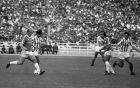 Βέλιμιρ Ζάετς, Χουάν Ραμόν Ρότσα, Πέτρος Ξανθόπουλος και Γιώργος Σεμερτζίδης από την αναμέτρηση Παναθηναϊκός - Ολυμπιακός 1-1 (21/09/1986)