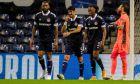 Ο Ολυμπιακός ηττήθηκε στο 'Dragao' με σκορ 2-0 από την Πόρτο, για την 2η αγ. των ομίλων του Champions League 2020-2021. Σα, Σεμέδο, Μπουχαλάκης και Εμβιλά απογοητευμένοι από την εξέλιξη της αναμέτρησης. (EUROKINISSI)
