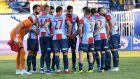 Οι παίκτες του Πανιωνίου σε στιγμιότυπο του αγώνα με τον Ατρόμητο για τη Super League 1 2019-2020 στο γήπεδο του Περιστερίου, Κυριακή 27 Οκτωβρίου 2019