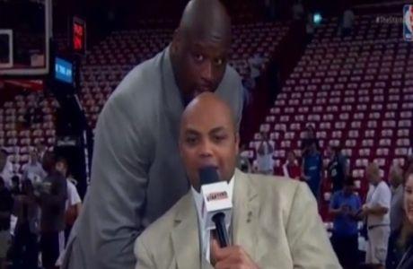Ο Σακίλ γλείφει το κεφάλι του Μπάρκλεϊ (VIDEO)