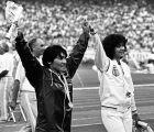 Με την Άννα Βερούλη στον αγωνιστικό χώρο του ΟΑΚΑ το 1982