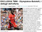 """""""Πρόταση 2,5 εκατ. ευρώ για δανεισμό του Μπαλοτέλι o Ολυμπιακός"""""""
