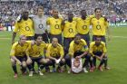Sport, Football, UEFA Champions League Final, Paris, 17th May 2006, Barcelona 2 v Arsenal 1, Arsenal team group, Back Row, L-R; Sol Campbell, Lens Lehmann, Gilberto, Emmanuel Eboue, Kolo Toure, Robert Pires, Front Row, Alexander Hleb, Cesc Fabregas, Fredrik Ljungberg, Thierry Henry and Ashley Cole  (Photo by Bob Thomas/Getty Images)