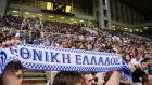 Εικόνα από την κερκίδα στη φιλική αναμέτρηση της Εθνικής Ελλάδας με τη Σερβία για το τουρνουά 'Ακρόπολις' στο ΟΑΚΑ, Κυριακή 18 Αυγούστου 2019