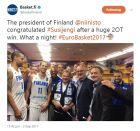 Το γιόρτασαν με τον Πρόεδρο της χώρας οι Φινλανδοί