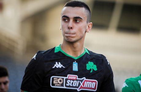 Ο Χριστογεώργος ήταν βασικός στην ενδεκάδα του Παναθηναϊκού στην αναμέτρηση με τον Άρη (2-0) για την 5η αγ. των playoffs της Super League 2019-2020. (ΦΩΤΟΓΡΑΦΙΑ: ΣΩΤΗΡΗΣ ΔΗΜΗΤΡΟΠΟΥΛΟΣ / EUROKINISSI)