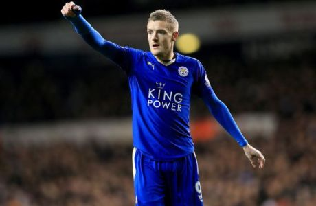 Leicester City's Jamie Vardy during the Barclays Premier League match at White Hart Lane, London.
