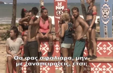 Πήγαν να πέσουν... χαστούκια μεταξύ Χατζίδου και Σπυροπούλου στο Survivor!