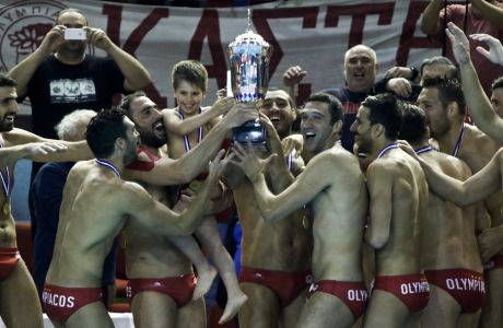 08/05/2017 Olympiacos Vs Vouliagmeni for Water Polo Men's championship 3rd final season 2016-17, in Olympiacos Stadium in Piraeus - Greece  Photo by: Andreas Papakonstantinou / Tourette Photography