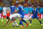 RECIFE, BRAZIL - JUNE 29: Bryan Ruiz of Costa Rica competes for the ball with Jose Cholevas of Greece during the 2014 FIFA World Cup Brazil Round of 16 match between Costa Rica and Greece at Arena Pernambuco on June 29, 2014 in Recife, Brazil.  (Photo by Paul Gilham/Getty Images)
