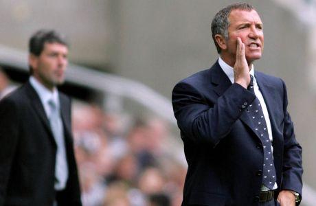 Ο Γκρέιαμ Σούνες το 2005, ως προπονητής της Νιούκαστλ.(AP Photo/Scott Heppell)
