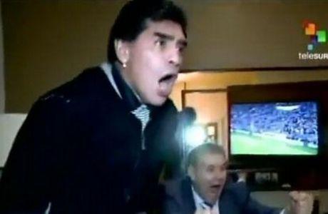 Έξαλλοι πανηγυρισμοί Μαραντόνα στο γκολ του Σουάρες (VIDEO)