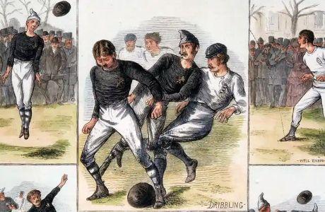Σκίτσα από το ιστορικό ματς, όπως τα ζωγράφισε ο Γουίλιαμ Ράστον. Μερικά έχουν και εκπαιδευτικό χαρακτήρα, καθώς γράφεται τι ακριβώς απεικονίζουν