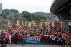 Διαδήλωση στην Καταλονία με αίτημα την απελευθέρωση των φυλακισμένων Καταλανών ηγετών.