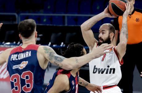 Ο Βασίλης Σπανούλης δεν έπαιξε περισσότερα από 10 λεπτά στην ήττα του Ολυμπιακού με την Μπασκόνια