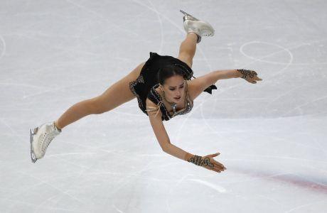 Η Αλίνα Ζαγκίταβα σε στιγμιότυπο κατά τους τελικούς Grand Prix στο 'Παλάβελα', Τορίνο, Σάββατο 7 Δεκεμβρίου 2019
