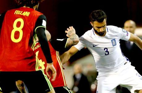 ÐÁÃÊÏÓÌÉÏ ÊÕÐÅËËÏ / ÐÑÏÊÑÉÌÁÔÉÊÁ / ÂÅËÃÉÏ - ÅËËÁÄÁ / WORLD CUP / PRELIMINARY / BELGIUM - GREECE (Eurokinissi Sports)