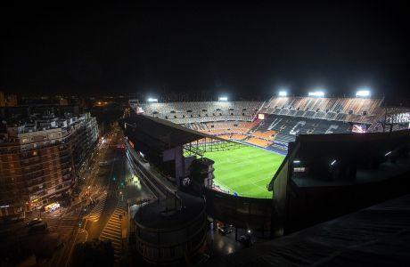 Γενική άποψη από το 'Μεστάγια', πριν από την αναμέτρηση της Βαλένθια με την Αταλάντα, για τον 2ο αγώνα της φάσης των 16 του Champions League 2019-2020, Βαλένθια, Τρίτη 10 Μαρτίου 2020