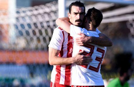 Ο Λάζαρος Χριστοδουλόπουλος επέστρεψε στην 11άδα του Ολυμπιακού μετά από 11 μήνες και σκόραρε το δεύτερο τέρμα του Ολυμπιακού στην εκτός έδρας αναμέτρηση με την Καλαμάτα (0-2) για το Κύπελλο Ελλάδας. (8/1/2020) - ΦΩΤΟΓΡΑΦΙΑ: ΑΝΤΩΝΗΣ ΝΙΚΟΛΟΠΟΥΛΟΣ / EUROKINISSI