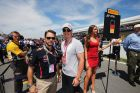 MONTREAL, CANADA - JUNE 10:  Actor Jason Priestley and skier Erik Guay are seen on the grid before the Canadian Formula One Grand Prix at the Circuit Gilles Villeneuve on June 10, 2012 in Montreal, Canada.  (Photo by Mark Thompson/Getty Images) *** Local Caption *** Erik Guay; Jason Priestley