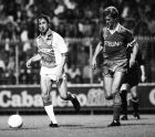 Johan Cruyff of Ajax (L), Louis van Gaal of Sparta (R) during a match between Ajax and Sparta Rotterdam during the season 1982/1983 in Amsterdam, Netherlands. (Photo by VI Images via Getty Images)