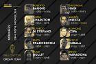 Οι υποψήφιοι του France Football για τον τίτλο του καλύτερου επιθετικού μέσου όλων των εποχών