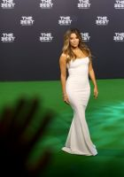 Co-host and US actress Eva Longoria arrives for The Best FIFA Football Awards 2016 ceremony, on January 9, 2017 in Zurich. / AFP PHOTO / MICHELE LIMINA