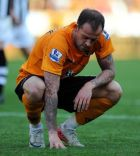 Wolverhampton's Steven Fletcher looks dejected after the final whistle during the Barclays Premier League match at Molineux, Wolverhampton.