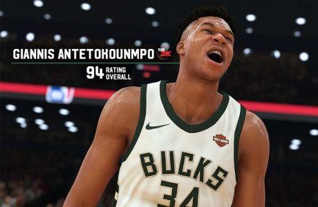 O Γιάννης Αντετοκούνμπο στο NBA2K19