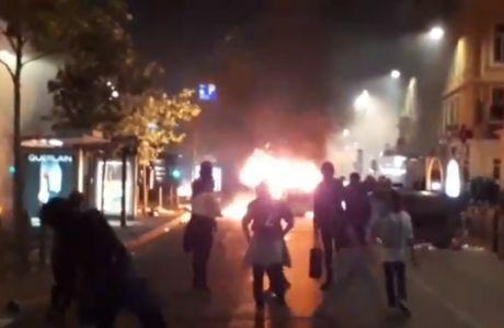 """Οι οπαδοί της Μαρσέιγ ξέσπασαν """"καίγοντας"""" τη Μασσαλία"""